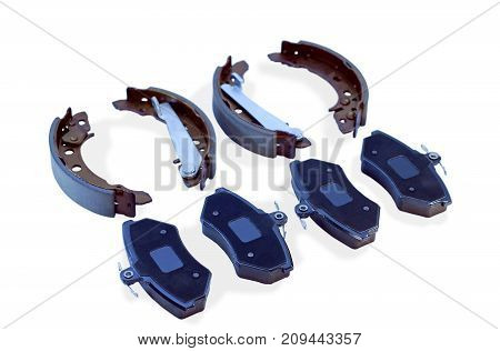 brake pads and brake shoes for car, parts for brake system
