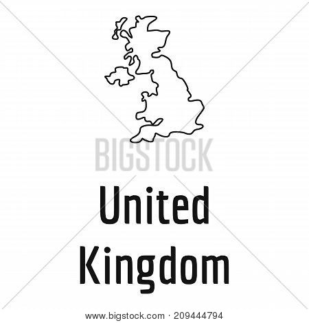 United Kingdom map thin line. Simple illustration of United Kingdom map vector isolated on white background