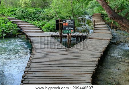 Plitvice Lakes National Park has several trails that traverse the park through and around the water.