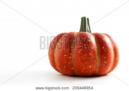 Pumpkin for decorating a Halloween party on a white background.