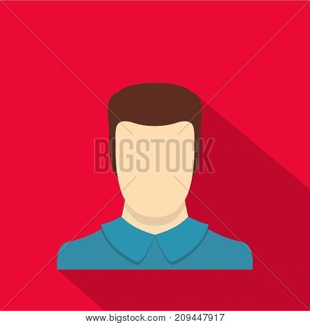 Male avatar icon. Flat illustration of male avatar vector icon for any web design