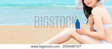 Closeup Of Elegant Attractive Girl Wearing Bikini