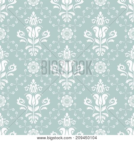 Seamless classic light blue and white pattern. Traditional orient ornament. Classic vintage background