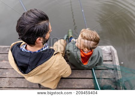 Fishing Together With Rods