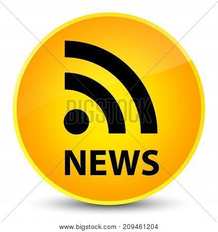 News (rss Icon) Elegant Yellow Round Button