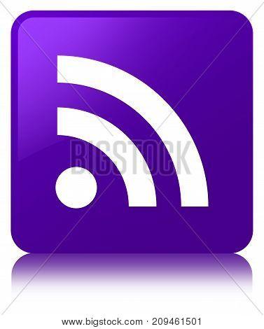 Rss Icon Purple Square Button