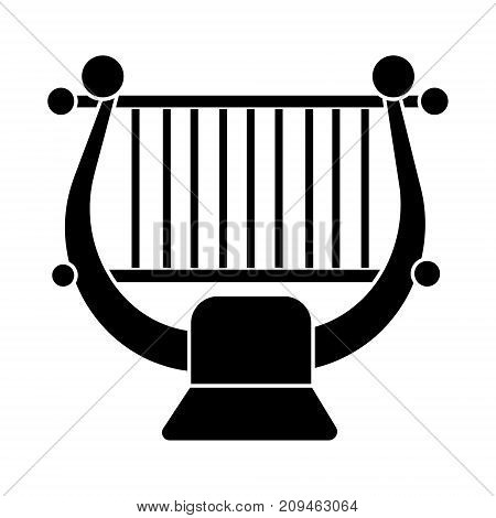 harp - string music classical icon, illustration, vector sign on isolated background