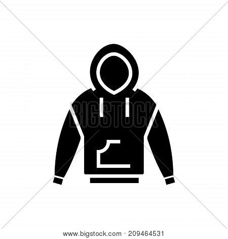 Hoodie icon, illustration, vector sign on isolated background