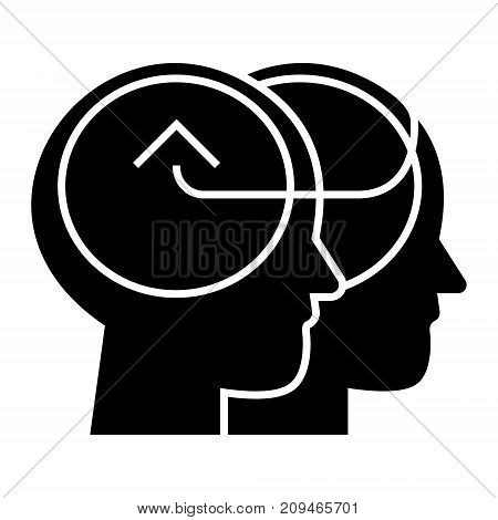 collective decision icon, illustration, vector sign on isolated background