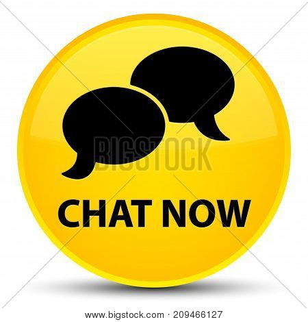 Chat Now Special Yellow Round Button