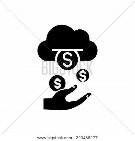 income - passive - stream - money icon, illustration, vector sign on isolated background