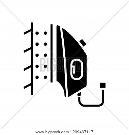 iron steamer icon, illustration, vector sign on isolated background