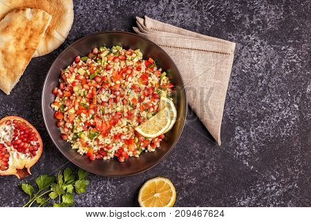 Tabbouleh Salad, Traditional Middle Eastern Or Arab Dish.