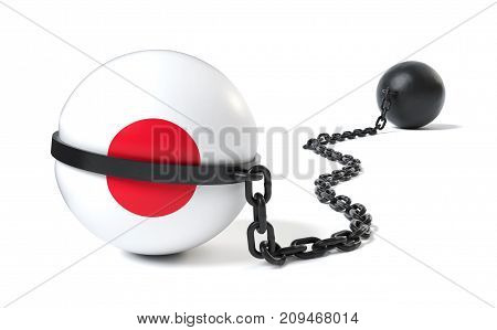 Japan hold back by a Ball and Chain restraint device