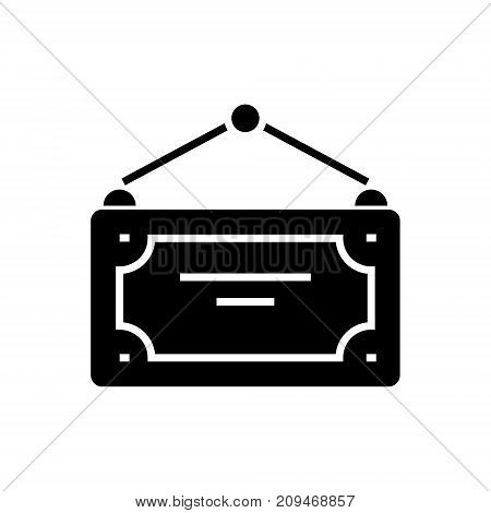 label for open, closed icon, illustration, vector sign on isolated background