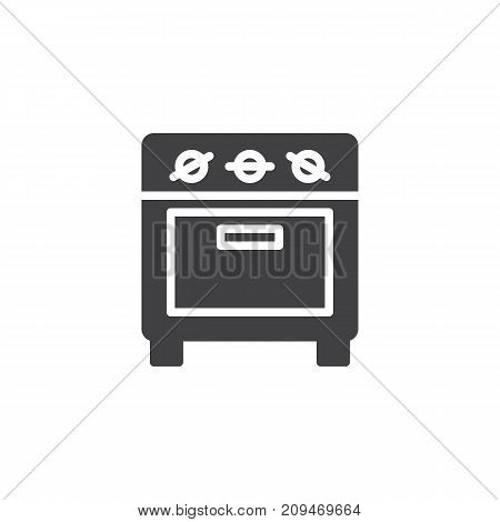 Small oven icon vector, filled flat sign, solid pictogram isolated on white. Kitchen stove symbol, logo illustration.