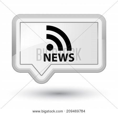 News (rss Icon) Prime White Banner Button