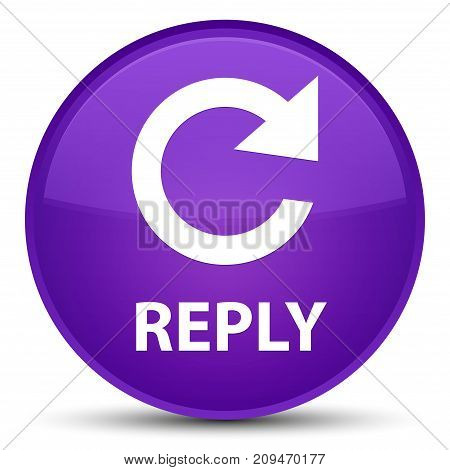 Reply (rotate Arrow Icon) Special Purple Round Button