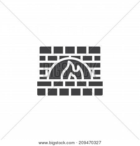 Stone oven icon vector, filled flat sign, solid pictogram isolated on white. Symbol, logo illustration.