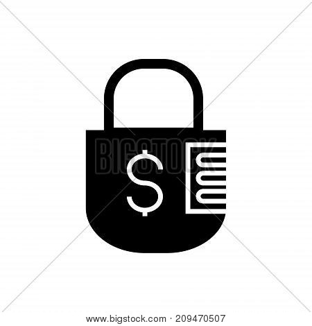 lock icon, illustration, vector sign on isolated background