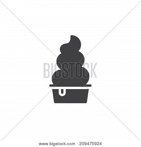 Frozen yogurt icon vector, filled flat sign, solid pictogram isolated on white. Symbol, logo illustration.