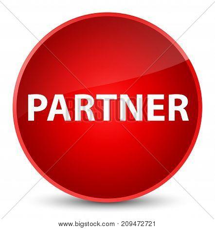 Partner Elegant Red Round Button