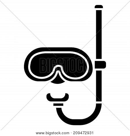 mask diving icon, illustration, vector sign on isolated background