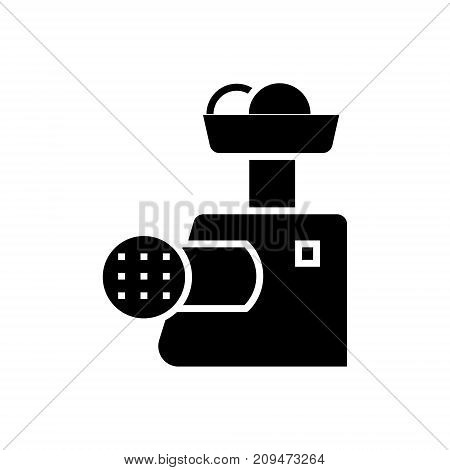 meat grinder icon, illustration, vector sign on isolated background