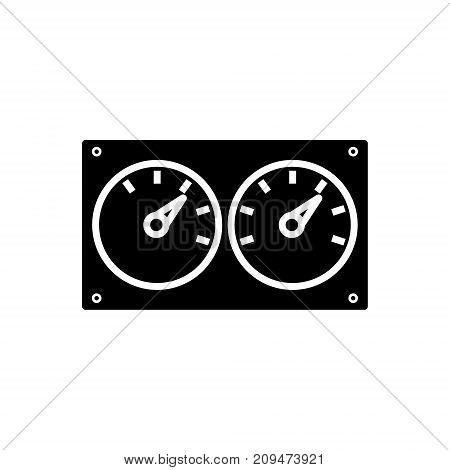 meter control dual icon, illustration, vector sign on isolated background