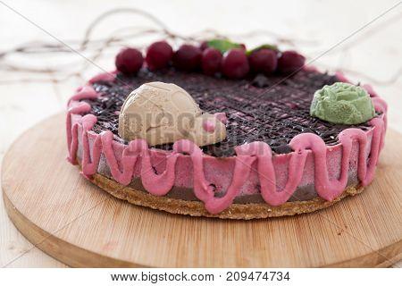 Colorful Raw Vegan Cake