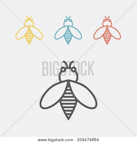Bee line icon. Vector sign for web graphics.