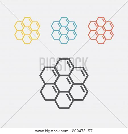 Honeycomb line icon. Vector sign for web graphics.