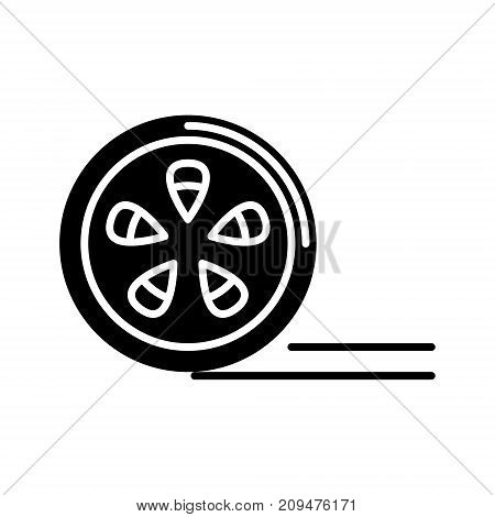 movie reel icon, illustration, vector sign on isolated background