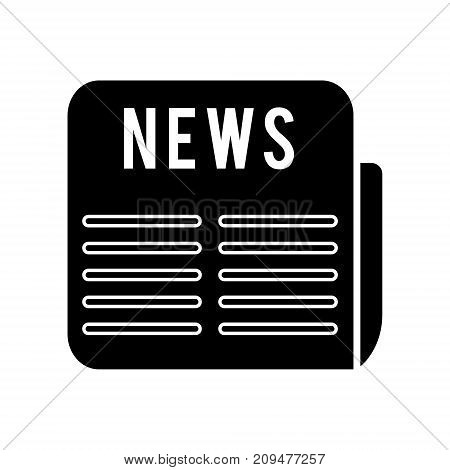 news icon, illustration, vector sign on isolated background