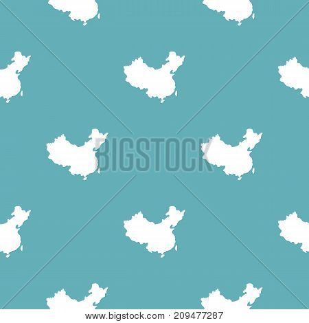 China map pattern seamless blue. Simple illustration of  vector pattern seamless geometric repeat background