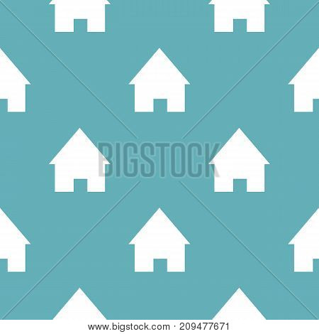 Home pattern seamless blue. Simple illustration of  vector pattern seamless geometric repeat background
