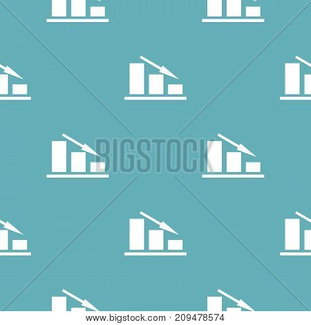 Down chart pattern seamless blue. Simple illustration of  vector pattern seamless geometric repeat background