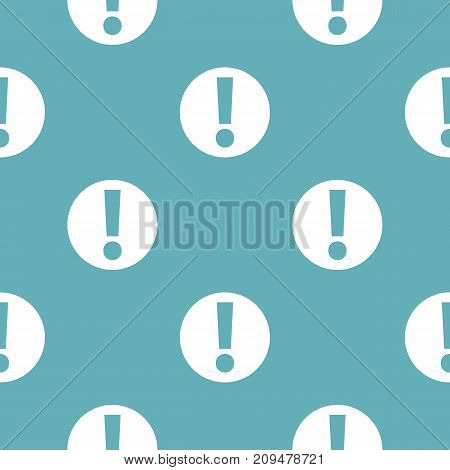 Exclamation point pattern seamless blue. Simple illustration of  vector pattern seamless geometric repeat background