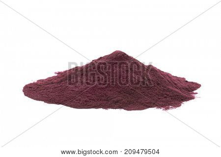 Acai powder, isolated on white