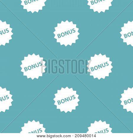 Bonus sign pattern seamless blue. Simple illustration of  vector pattern seamless geometric repeat background