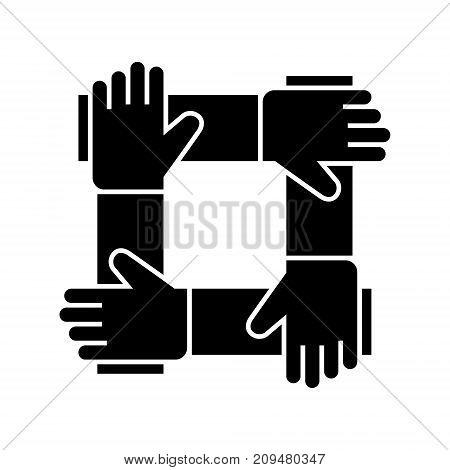partnership - collaboration - help icon, illustration, vector sign on isolated background