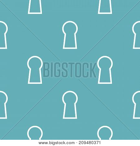 Keyhole pattern seamless blue. Simple illustration of  vector pattern seamless geometric repeat background