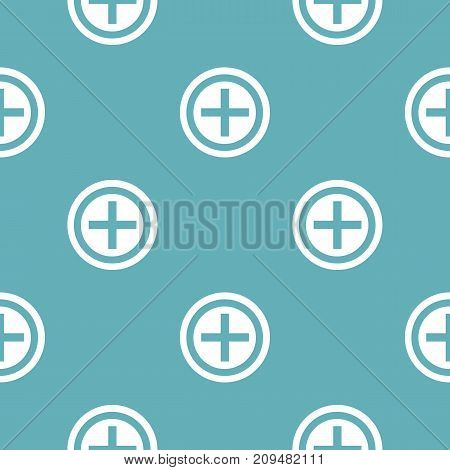Plus pattern seamless blue. Simple illustration of  vector pattern seamless geometric repeat background