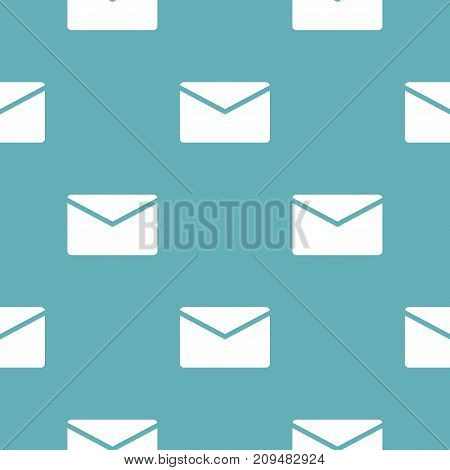 Mail pattern seamless blue. Simple illustration of  vector pattern seamless geometric repeat background