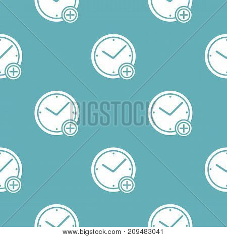 Time plus pattern seamless blue. Simple illustration of  vector pattern seamless geometric repeat background