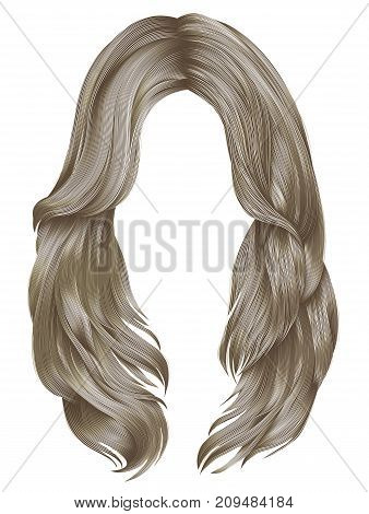 trendy woman long hairs blond colors .  beauty fashion .  realistic  graphic 3d