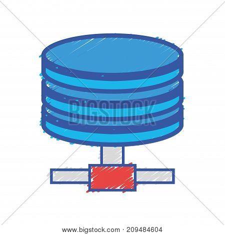 hard disk technology data storage vector illustration