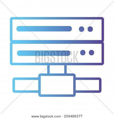 line data network swich uplink trunk vector illustration