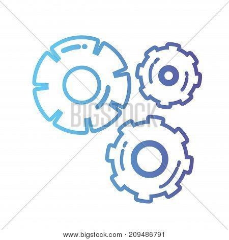 line gear industry engineering process vector illustration