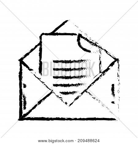 figure e-mail message with document information vector illustration